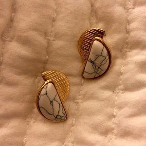 Jewelry - Retro Faux Marble Earrings